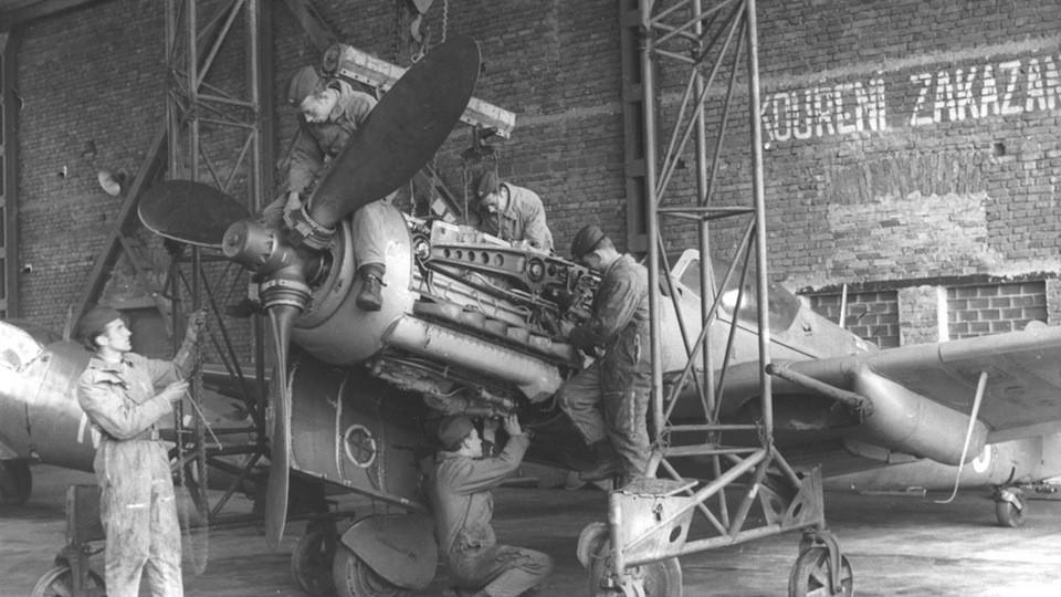 rekonstrukce letištního jeřábu Luftwaffe