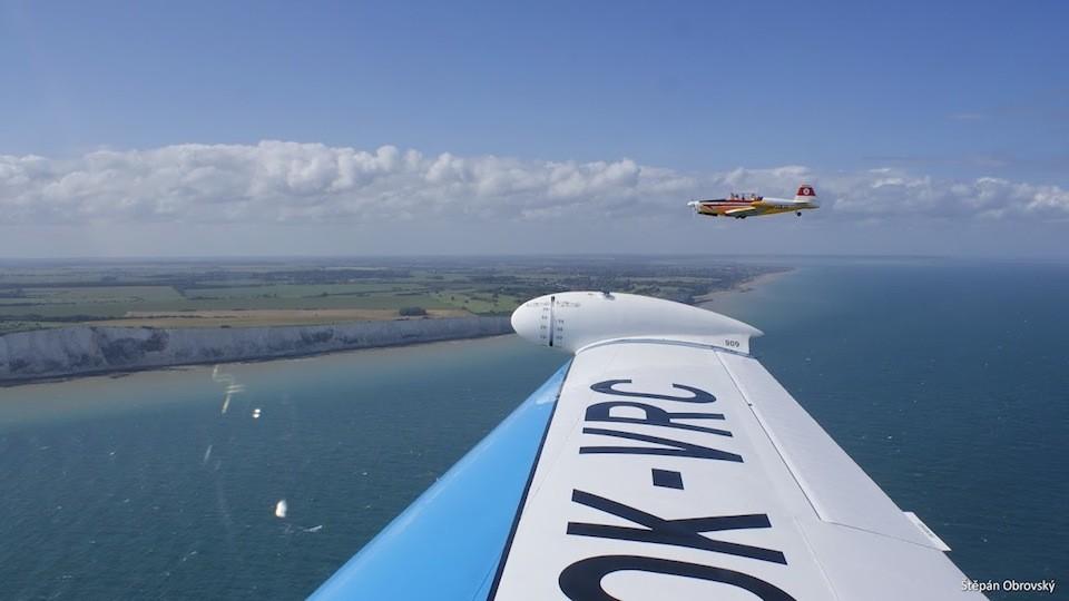 českoslovenští letci nad Doverskými útesy