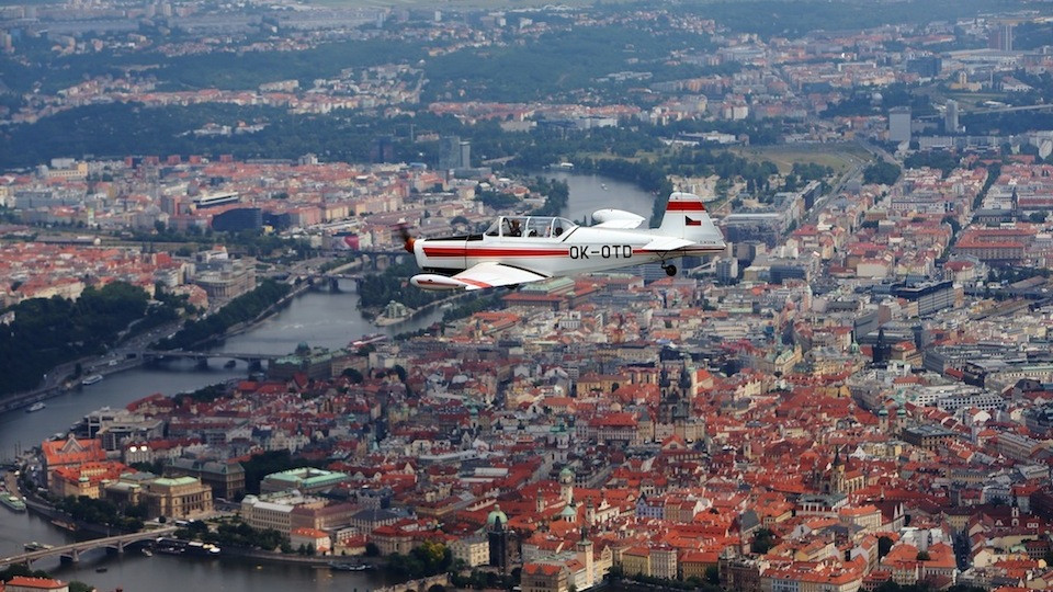 Zlin Trener over Prague